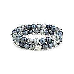 Jon Richard - Grey tonal pearl and bead bracelet set