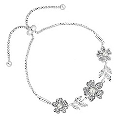 Alan Hannah Devoted - Freya flower and pearl toggle bracelet