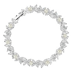 Alan Hannah Devoted - Aurora pearl and cubic zirconia bracelet