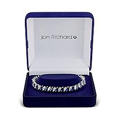 Jon Richard - Blue cubic zirconia navette bracelet