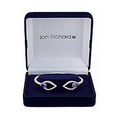 Jon Richard - Purple double peardrop bangle