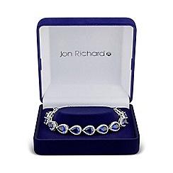 Jon Richard - Blue multi peardrop bracelet