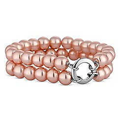 Jon Richard - Pink pearl double row bracelet