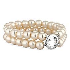 Jon Richard - Cream pearl double row bracelet