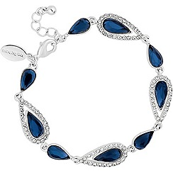 Jon Richard - Blue crystal elongated peardrop bracelet