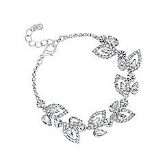Jon Richard - Silver diamante crystal flower bracelet