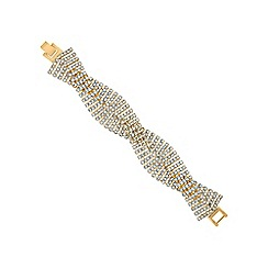 Jon Richard - Gold diamante crystal weave bracelet
