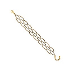 Jon Richard - Gold diamante weave bracelet