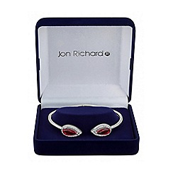 Jon Richard - Red cubic zirconia peardrop bangle