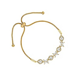 Alan Hannah Devoted - Gold floral toggle bracelet