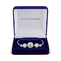 Jon Richard - Silver graduated circle bracelet