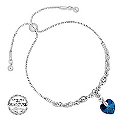 Jon Richard - bermuda blue heart bracelet MADE WITH SWAROVSKI CRYSTALS