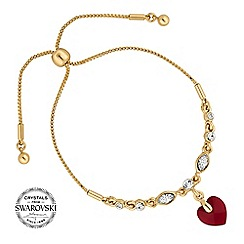 Jon Richard - Red heart toggle bracelet MADE WITH SWAROVSKI CRYSTALS