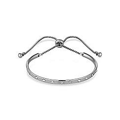 Jon Richard - Silver curved bar toggle bracelet