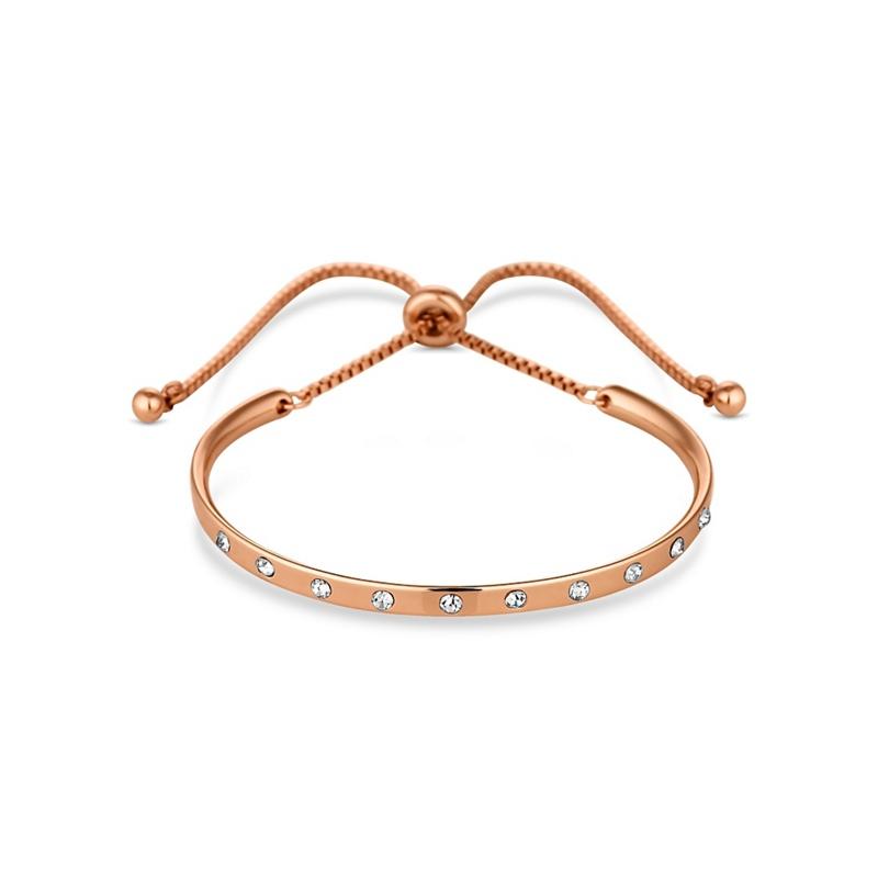 Jon Richard Rose Gold Curved Bar Toggle Bracelet, Womens