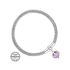 Jon Richard - Silver cube bracelet MADE WITH SWAROVSKI CRYSTALS