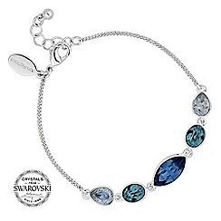 Jon Richard - Tonal blue toggle bracelet MADE WITH SWAROVSKI CRYSTALS