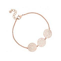 Jon Richard - Rose gold filigree bracelet