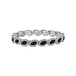 Jon Richard - Blue crystal navette bracelet