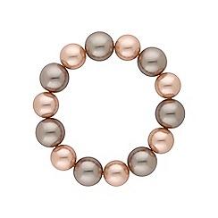 Jon Richard - Champagne pearl stretch bracelet