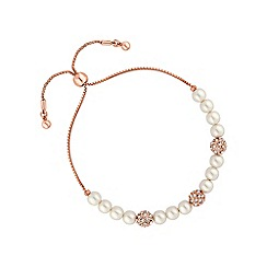 Jon Richard - Pave ball and pearl toggle bracelet