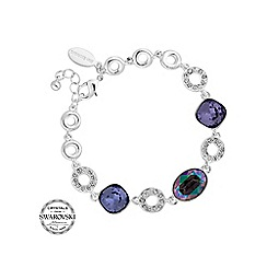 Jon Richard - Oval crystal and pave circle bracelet MADE WITH SWAROVSKI CRYSTALS