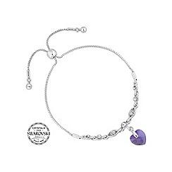 Jon Richard - Lilac heart toggle bracelet MADE WITH SWAROVSKI CRYSTALS
