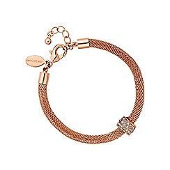 Jon Richard - Rose gold mesh charm bracelet
