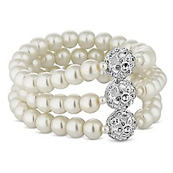 Alan Hannah Devoted - Designer silver filigree pearl bracelet