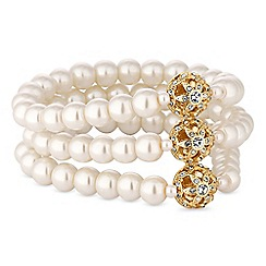 Alan Hannah Devoted - Designer gold filigree pearl bracelet