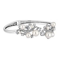 Alan Hannah Devoted - Designer crystal and pearl leaf bracelet