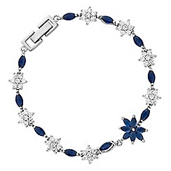 Alan Hannah Devoted - Designer cubic zirconia flower bracelet