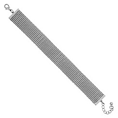 Jon Richard - Silver snake chain bracelet