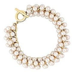 Jon Richard - Cream pearl cluster bracelet