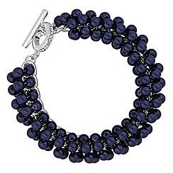Jon Richard - Navy pearl cluster bracelet