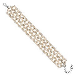 Jon Richard - Cream pearl woven bracelet