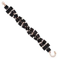 Jon Richard - Jet baguette crystal twist bracelet