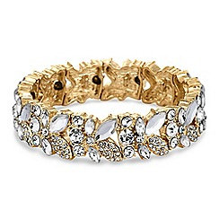 Jon Richard - Gold crystal leaf bracelet