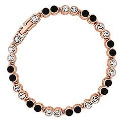 Jon Richard - Rose gold crystal tennis bracelet