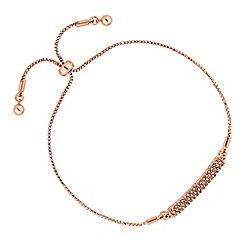 Jon Richard - Rose gold pave bar toggle bracelet
