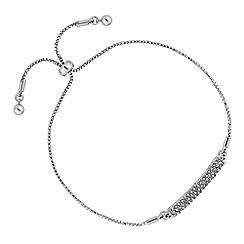 Jon Richard - Pave bar toggle bracelet