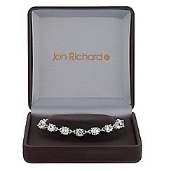 Jon Richard - Silver cubic zirconia tennis link bracelet