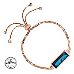 Jon Richard - Bermuda blue baguette toggle bracelet MADE WITH SWAROVSKI CRYSTALS
