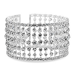 Jon Richard - Silver crystal row bangle