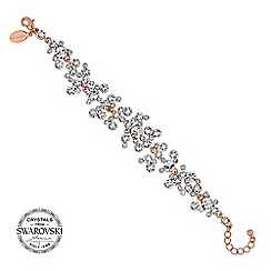Jon Richard - Rose gold crystal cluster bracelet MADE WITH SWAROVSKI CRYSTALS
