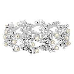 Alan Hannah Devoted - Designer leaf and pearl bracelet