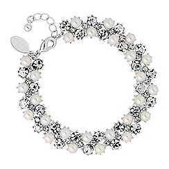 Alan Hannah Devoted - Designer crystal and pearl bracelet