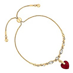 Jon Richard - Heart toggle bracelet created with swarovski crystals