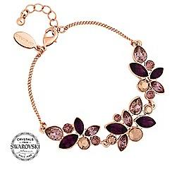 Jon Richard - Purple crystal cluster bracelet MADE WITH SWAROVSKI CRYSTALS