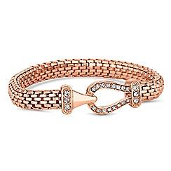 Jon Richard - Rose gold pave hook bracelet